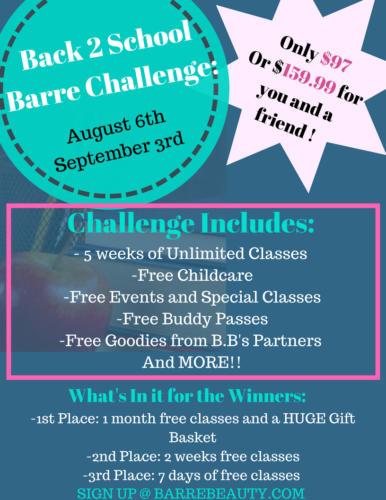 Back 2 SchoolBarre Challenge